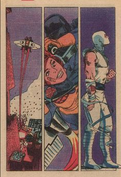 """Snake Eyes, Scarlett and Storm Shadow from G.I. Joe #21, """"Silent Interlude."""""""
