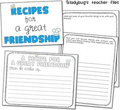 friendship writing activities {printable}