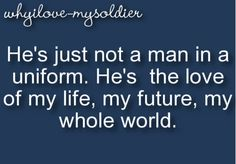 YES!!!! I am proud of my husband because he is a soldier, but I love him because he's my Trevor <3