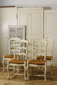 アンティーク プロヴァンサルダイニングチェア(4脚セット)  French Antique Provencal Chair