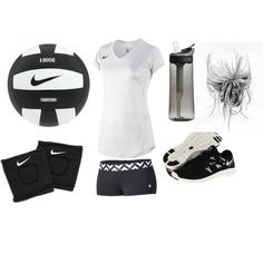 """""""Volleyball"""" by ho1027xo on Polyvore cheap nike free run 2 only $49, save up to 60% off for all #Nikes #Shoes"""