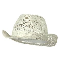 Ladies Toyo Fedora Hat - White