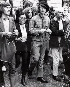 John Lennon protesting in his Wrangler 11MW Jacket. One of the coolest Denim jacket photos I have ever seen!