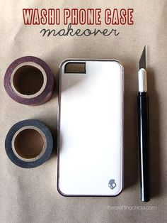 Use washi tape to decorate a plain phone case. 12 days of Christmas Gift Ideas. Calling birds.