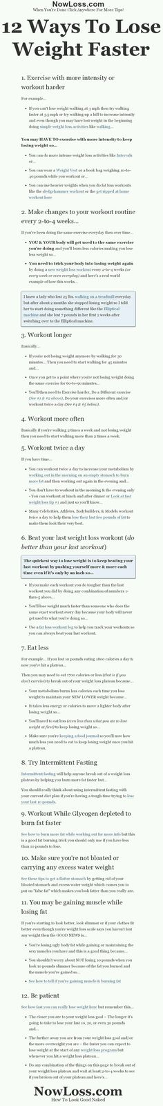 12 Ways to Lose Weight Faster...