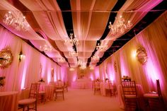 Heavenly lounge at pink and gold wedding reception designed by Ariel Yve Design (www.ArielYve.com). Featured on Platinum Weddings and Your Wedding Day Magazine.