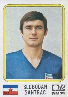Slobodan Santrac - Yugoslavia - München 74 World Cup sticker 193 Football Stickers, Football Cards, Baseball Cards, Panini Sticker, 1974 World Cup, Laws Of The Game, Association Football, Most Popular Sports, World Cup Final