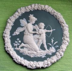 "German Green Jasper Plaque Schafer & Vater Germany 7""  Circa 1800 A BEAUTY!"