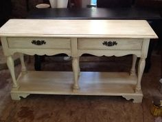 Antiqued Table $100 @Cate's Closet & Clutter/Facebook #painted #antiqued #table #upcycled #furniture