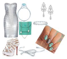 """""""Tiffany glam"""" by boiicosmetics on Polyvore featuring Tiffany & Co., Hervé Léger and Wrapped In Love"""