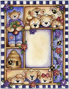 Laurie Furnell - printable Borders And Frames, Borders For Paper, Craft Projects, Projects To Try, Pintura Country, Clip Art, Country Paintings, Tatty Teddy, Country Art