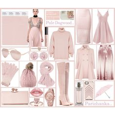 Pantone Fashion Color Report Spring - summer 2017  -   Pale Dogwood .. by parizhanka-13 on Polyvore featuring TIBI, Boohoo, T By Alexander Wang, Gianvito Rossi, Ted Baker, Michael Kors, Pure Collection, Full Tilt, Furla and Rebecca Minkoff