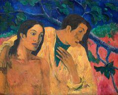 Paul Gauguin: Escape, 1902. Pinterest