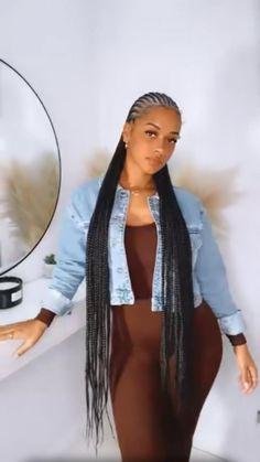 Box Braids Hairstyles For Black Women, Braids Hairstyles Pictures, Black Girl Braids, Dope Hairstyles, Braids For Black Hair, Braids For Black Women, Braided Cornrow Hairstyles, African Braids Hairstyles, Hairstyles With Braiding Hair
