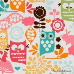 Flannel Forest Life in Watermelon for Michael Miller Fabrics