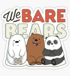 """We Bare Bears (Full)"" Stickers by digitalkarma"