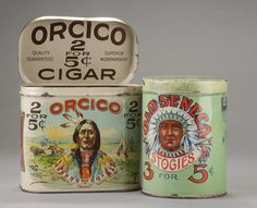 Two vintage advertising Country Store Tins