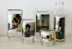 Fotos in alten Flaschen und Vorratsgläsern. Best Picture For Frame Crafts to sell For Your Taste You are looking for something, and it is going to tell you exactly what y Diy Crafts To Do, Frame Crafts, Diy Frame, Diy Photo, Photo Ideas, Cadre Photo Design, Cadre Photo Original, Glass Jars, Mason Jars