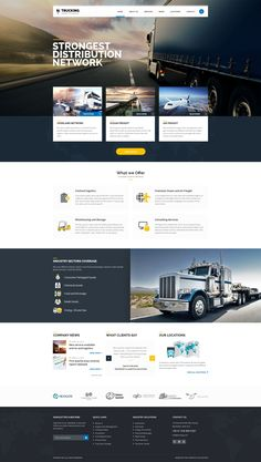 Wordpress Theme for Transportation and Logistics Companies