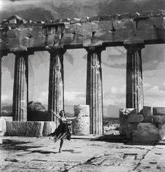 Mona Paiva at the Acropolis. Athens 1927; Photograph by Nelly