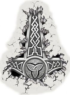 Viking Tattoo Sleeve, Viking Tattoo Symbol, Pagan Tattoo, Norse Tattoo, Celtic Tattoos, Sleeve Tattoos, Wiccan Tattoos, Inca Tattoo, Indian Tattoos