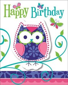 Creative Converting Owl Pal Party Invitations, 8-Count - List price: $6.99 Price: $5.03 Saving: $1.96 (28%) #CreativeConverting