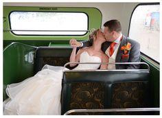 Vintage Bus. Wedding Photography. Blackpool, Lancashire. UK.