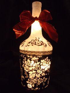 Wine Bottle Lamp Victorian by songbird58 on Etsy, $22.99