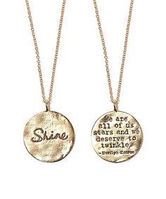 Look at this #zulilyfind! Gold 'Shine' Pendant Necklace #zulilyfinds    Chain: 17.5'' L Pendant: 1.38'' diameter