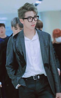RM can pull off anything and DANG! he looks like a young powerful CEO. #namjoon #rapmonster #BTS #bangtan