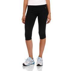 Danskin Now Women's Cotton Sport Capri Tight, Size: Large, Black
