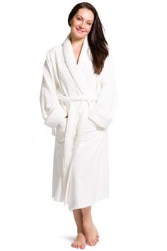 Womens Turkish Spa Robe | Eco Friendly Bamboo Fabric | Fisher's Finery – Fishers Finery