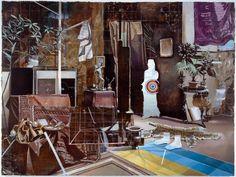 Matthias Weischer, Tuch (Cloth), 2006, Oil and tempera on canvas, 59 1/16 x 78 6/8 in. (150 x 200 cm)