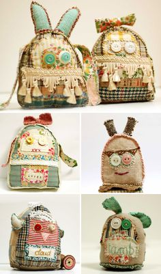 fun!! They kind of look like backpacks.. These would be cute designs for backpacks