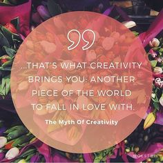 I love the image @holstee created from a quotable from my article on the Myth of Creativity last year in Mindful Matters :)