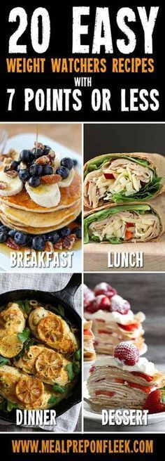 Easy Weight Watchers Recipes (With 7 Points Or Less) - Meal Prep on Fleek™ Easy Weight Watchers Meals you can this week.Easy Weight Watchers Meals you can this week. Plats Weight Watchers, Weight Watchers Smart Points, Weight Watcher Dinners, Weight Watchers Diet, Weight Watchers Lunches, Healthy Recipes, Ww Recipes, Cooking Recipes, Healthy Snacks