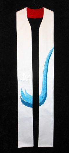 The unique clergy stoles offered by C&M Designs are handcrafted by professional fiberartists working in their own studios. We market clerical stoles and other vestments that exhibit flawless construction and perfect fit. Baptism Presents, Easter Symbols, Communion Sets, Baptism Banner, Church Banners, Christian Art, Water Baptism, Fabric Art, Worship Ideas
