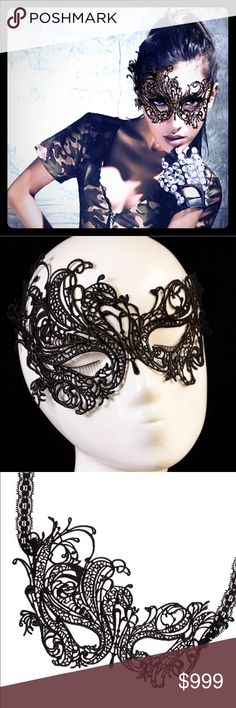 Lace Masquerade Mask Coming Soon! NWT CID011 Accessories