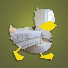 Over The Door Mirror, Round Wall Mirror, Sun Mirror, Bedroom Themes, Nursery Themes, Nursery Ideas, Kids Bedroom, Childrens Mirrors, Rubber Duck Bathroom