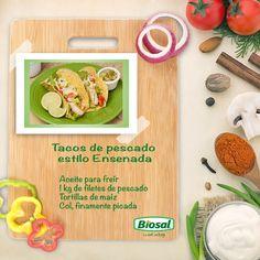 Para una tarde en familia o con amigos, prepara unos ricos tacos de pescado tipo Ensenada. http://www.hoycambio.com/articulos/3/708/la_comida_chatarra_te_hace_flojo.html