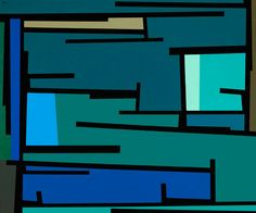 Karl Benjamin, #38, 1960  oil on canvas  42 x 50 inches  106.7 x 127 centimeters