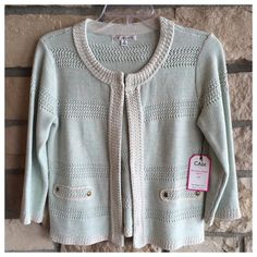 CAbi 203 Society Sweater CAbi 203 Society Sweater new with tags. Color is mint CAbi Sweaters Cardigans