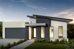 contemporary single story house facades australia - Google Search