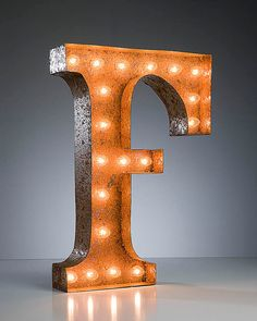 47d4c233ab6 Items similar to SALE - Letter Light F - RUSTY - 24