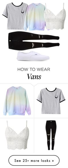 """""""damnnnn back at it again with the white vans"""" by kenbwel on Polyvore featuring Chicnova Fashion and Vans"""