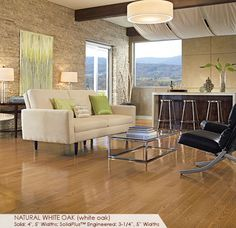 Somerset Floors | Color Plank Collection Natural White Oak