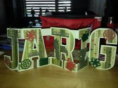 Marianne Design, Box, Letters, Stencil, Crafts, Snare Drum, Manualidades, Stenciled Table, Letter