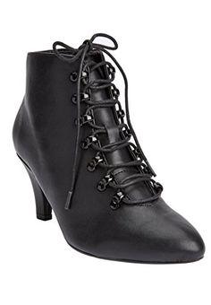 Comfortview Women's Wide Kaitlyn Bootie Black,10 Ww Comfo...