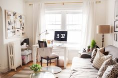 Para fazer suspirar: sala de estar, home office e mini bar