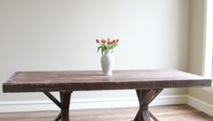 DIY Benches for my Dining Table - Shanty 2 Chic Round Patio Table, Farmhouse Dining Room Table, Diy Outdoor Table, Diy Dining Table, Diy Patio, Kitchen Benches, Patio Dining, Rustic Table, Kitchen Redo